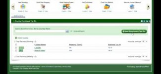Tax Settings in MarketPowerPRO by MLM Software provider MultiSoft Corporation